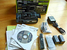 JVC GZ-HD7 60GB HD 3CCD Camcorder Remote Software Manual AC Comp USB Cables Box
