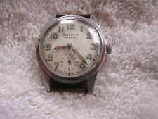 Vintage Bulova Watch 10BC Waterproof 17 Jewels