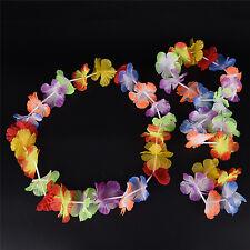 4pcs/set Hawaiian Fancy Dress Flower Necklace Garland Headband Party Costume STU