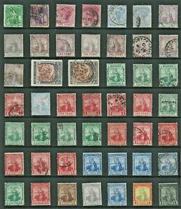 TRINIDAD TOBAGO Stamp COLLECTION Victoria to George V MINT USED REF:QV878a