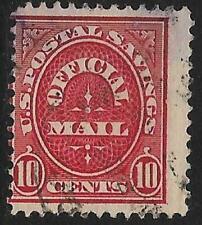 2v0647 Scott O126 US Postal Savings Stamp 1911 10c Official Mail Used