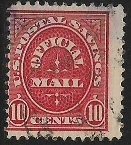 2v0647 Scott O126 US Postal Savings Stamp 1911 10c Official Mail Used