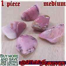 1 Medium 20mm Combo Ship Tumbled Gem Stone Crystal Natural - Opal Pink