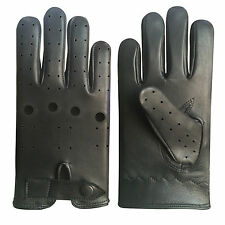 NEW TOP QUALITY REAL SOFT LEATHER MEN DRIVING GLOVES -D 508 BLACK COLOR