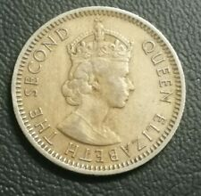 (RM) Malaya British Borneo Queen Elizabeth coin 10 cents 1961 VF Lot 3
