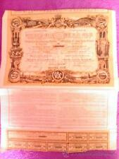 OBLIGACION  COMPAÑIA FERROCARRILES ANDALUCES DE PUENTE GENIL A LINARES 1890
