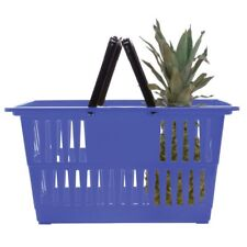 Hubert Shopping Basket Hand Basket Blue - 18 1/4 L x 13 1/4 w x 9 1/8 H