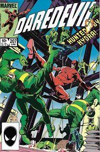 Daredevil Comic 207 Copper Age First Print 1984 Marvel Denny O'Neill Johnson