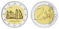 BRD 2 EURO NIEDERSACHSEN ST. MICHAELIS 2014 MÜNZZEICHEN A BANKFRISCH