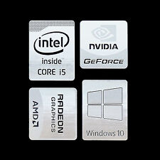 (Type jj) Haswell Intel Core i5 Logo Metal Decal Sticker Windows10 NVIDIA