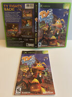 NO GAME Ty the Tasmanian Tiger 3: Night of the Quinkan Xbox CASE AND MANUAL ONLY