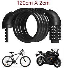 Cadena Candado para moto bicicleta cable de 120 X 2cm combinación 5 dígitos