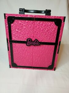 Mattel Barbie Closet / Wardrobe Pink & Black Doll Storage Carry Case 2011