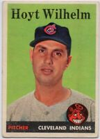 1958 Topps #324 Hoyt Wilhelm VG-VGEX Cleveland Indians FREE SHIPPING