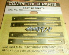 Official Brass Body Mounting Bracket & Screws by COX #4107 1960's Vintage 4+8NOS