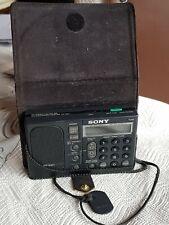 Sony ICF-SW1 altes Radio, Weltempfänger, Tragbareres Radio Sony, mit Tasche