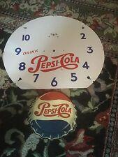 vintage swihart neon clock pepsi rocker rocking cap face and cap used parts