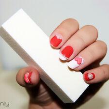 White Nail Buffer Sanding Block Files Pedicure Manicure Nail Art Tool Manicure
