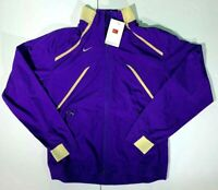 Nike Womens Fit Storm Lightweight Pullover Jacket Sz Med Purple Gold Full Zip