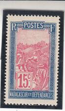 Madagascar 1922. 15c. Blue/red. Local Motifs MLH