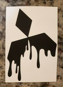 Drip Graffiti Mitsubishi Logo Decal Vinyl Sticker For 3000gt Lancer Evo Eclipse