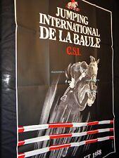 JUMPING INTERNATIONAL DE LA BAULE  affiche rare competition hippique galop