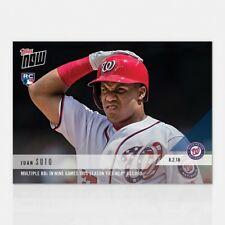 2018 TOPPS NOW #548 JUAN SOTO MULTIPLE BBS IN 9 GAMES TIES MLB RECORD