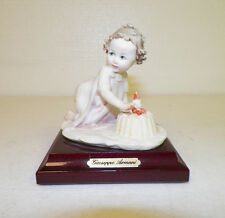 Giuseppe Armani Figure Girl With Birthday Cake One Candle Good Pre-Owned