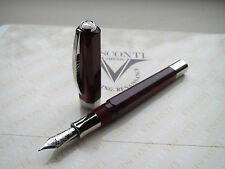 Visconti Limited Edition Opera Pearl Burgundy fountain pen Fine 23ct Pd nib MIB