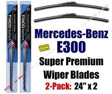 Wipers 2pk Premium Beam Wiper Blades fit 1995-1999 Mercedes-Benz E300 - 16240x2