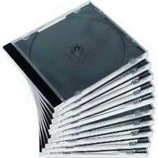 50 Stück Jewel Cases CD DVD Hüllen transparent-schwarz 1A Qualität sauber