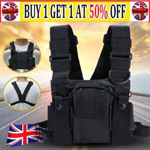 Vest Nylon Chest Rig Bag Hip Hop Functional Tactical Harness Chest Waist Pack UK