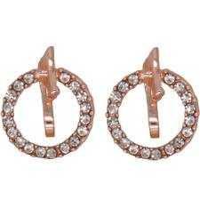 CLIP ON Earrings Crystal Rose Gold Rhinestone Fake Stud Studs Ear Non Pierced #9