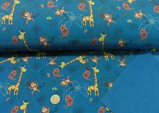 Softshell Jungle blau Jackenstoff Outdoor wasserabweisend Kinderstoff 25 cm