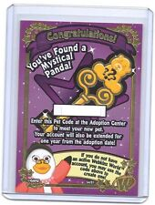 GANZ WEBKINZ Authentic MYSTICAL PANDA unused CODE CARD Congratulations!