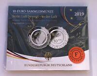 10 Euro Sammlermünze 2019 Serie: Luft bewegt - In der Luft - Prägestätte F in PP