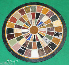 Table Top Rare Pietra Dura Inlay Marble Hard Semiprecious Stone Mosaic Coffee