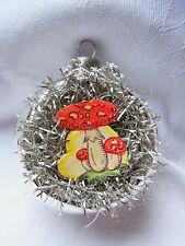 Christbaumschmuck Lauscha Tinsel Oblate Pilz Glas Reflexkugel Weihnachtsschmuck