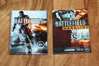 Battlefield 4 & Hardline Rare Promo Magnet Set PS3 PS4 Xbox 360 One