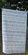 """Arrows red/blue/gold on white background COTTON 45"""" fabric TWO YARDS"""