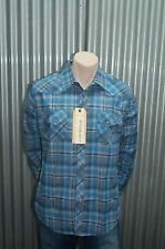 191 Unlimited Blue & Yellow Plaid Button-Up Woven NWT M