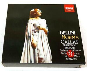Maria Callas Bellini Norma Serafin 3CD 1985 EMI CDS 7 47304 8 Germany E337