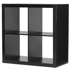 4-Cube Storage Organizer, Black