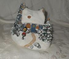 "Thomas Kinkade ""Stone Hearth Hutch"" Light Up Christmas Village Cottage"