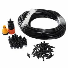 82FT DIY Mist Cooling System Kit for Garden Greenhouse Outdoor Patio Home with
