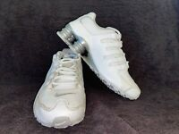 Pre-owned Nike NZ Shox Big Kids Size 4Y Shoes White Leather 317929-106