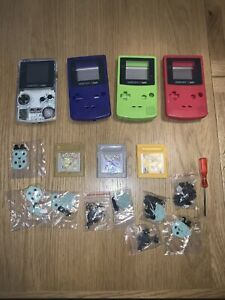 Gameboy Colour Console With Pokemon Gold, Silver And Yellow And Spare Cases