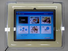 Digital Picture Frame/Video Display in Industrial Mount for Tanning Booth