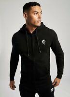 Gym King Basis Zip Through Hoodie-Black