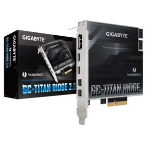 Gigabyte Titan Ridge 2.0 Thunderbolt 3 PCIe Add In Expansion Card